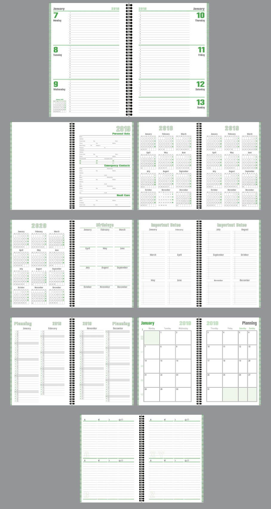 Daily Planner Agenda Indesign Template Fully Editable Model Atd53