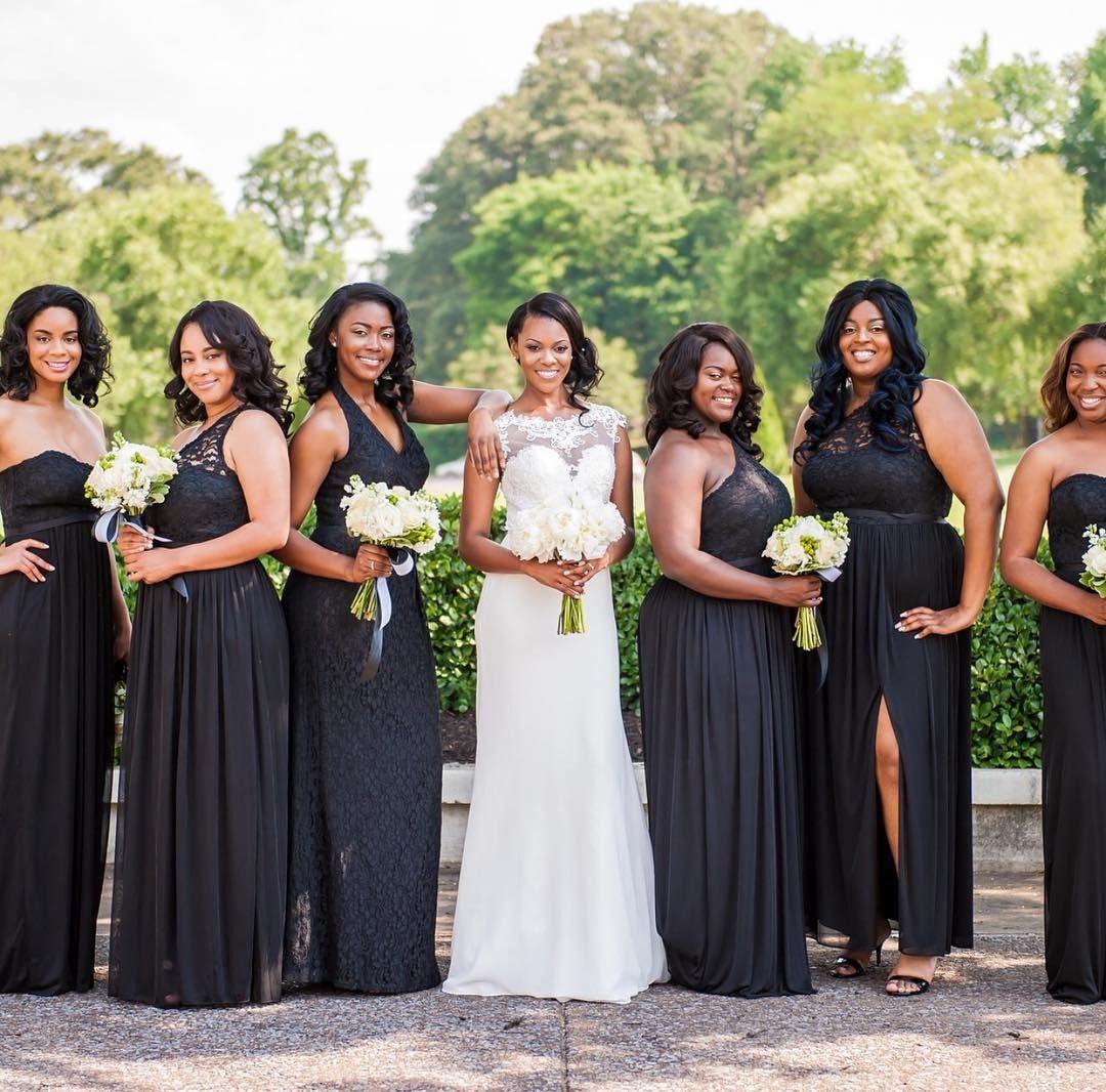 Black Bridesmaid Dresses Are Always An Elegant Idea Shop Lace Bridesmaid Dresses At David S Bridal Bridesmaid Lace Bridesmaid Dresses Black Bridesmaid Dresses