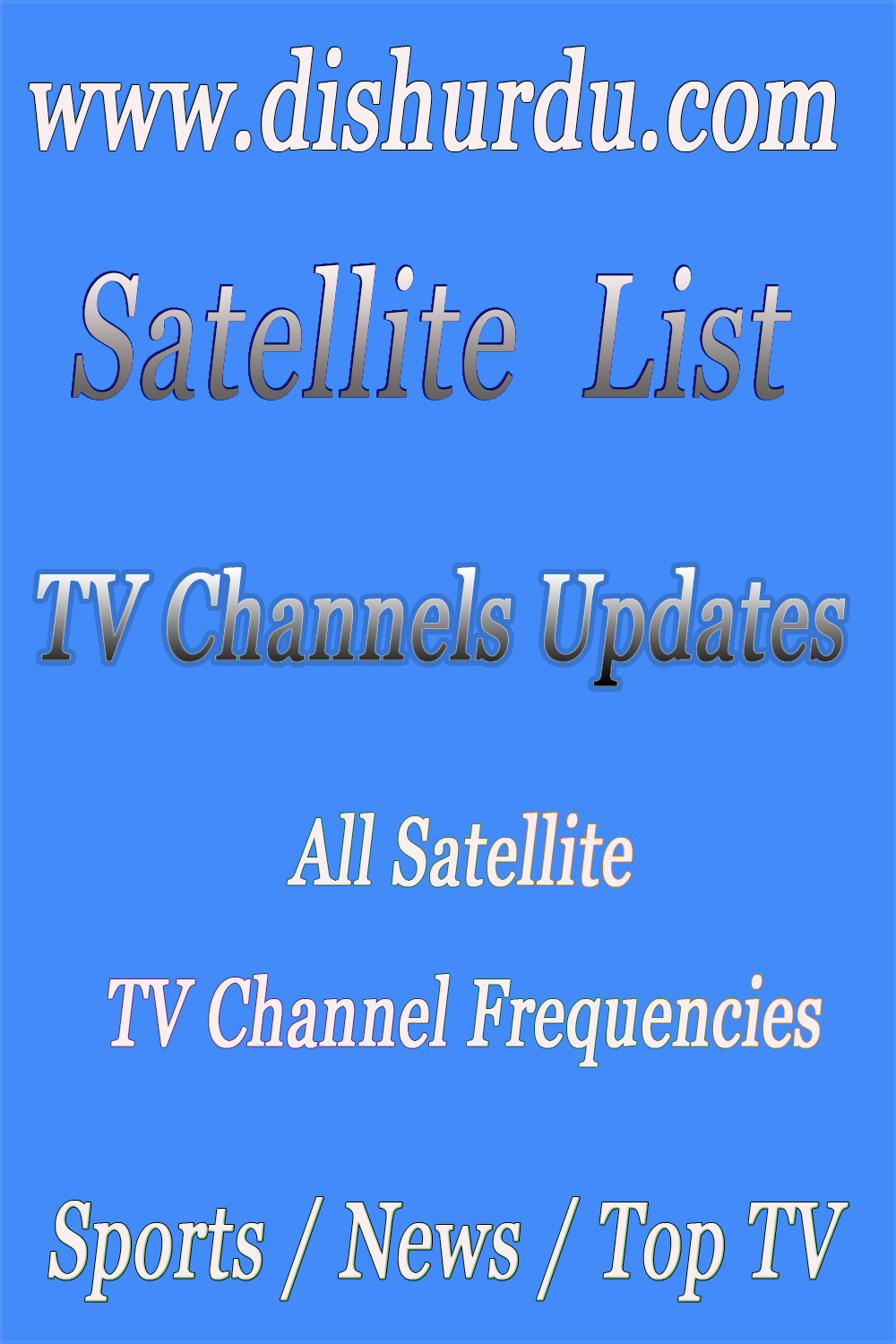 Satellite TV charts all over the world Daily update