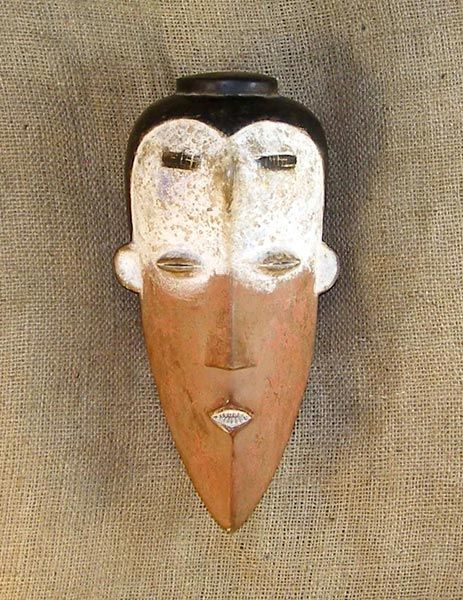 African Masks - Kwele Mask 25 - Front - Click to return to the top of the page.