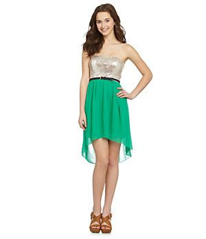 b8250e680e6 Jodi Kristopher Sequin Hi-Low Dress