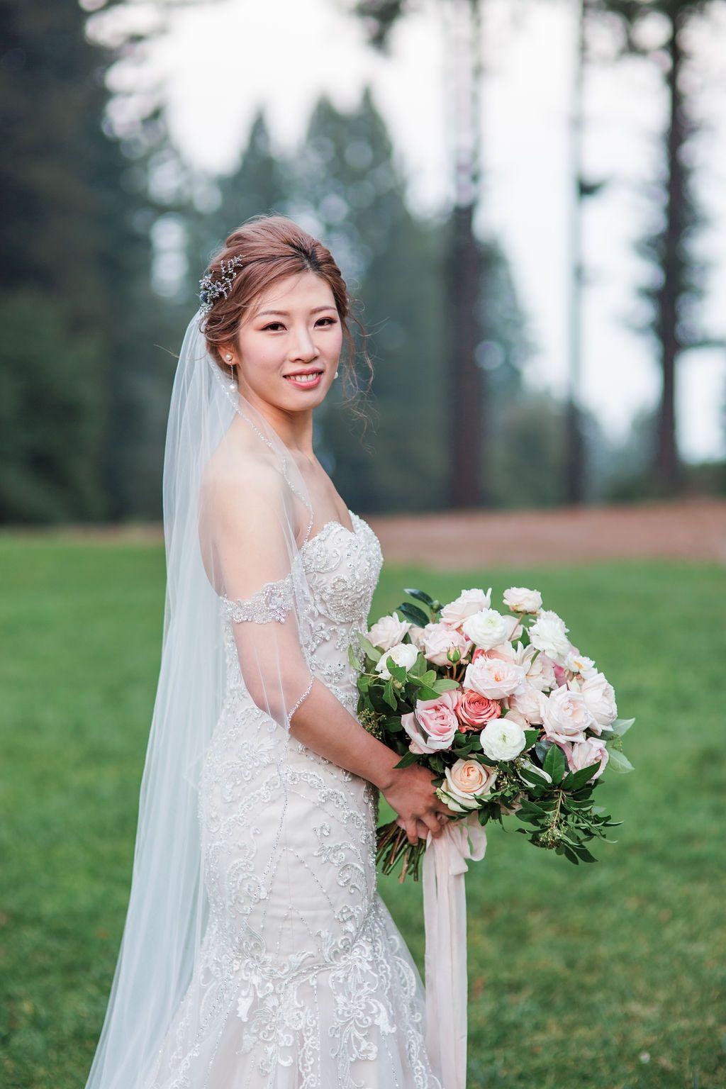 Bride's Portrait at The Mountain Terrace Event Planning