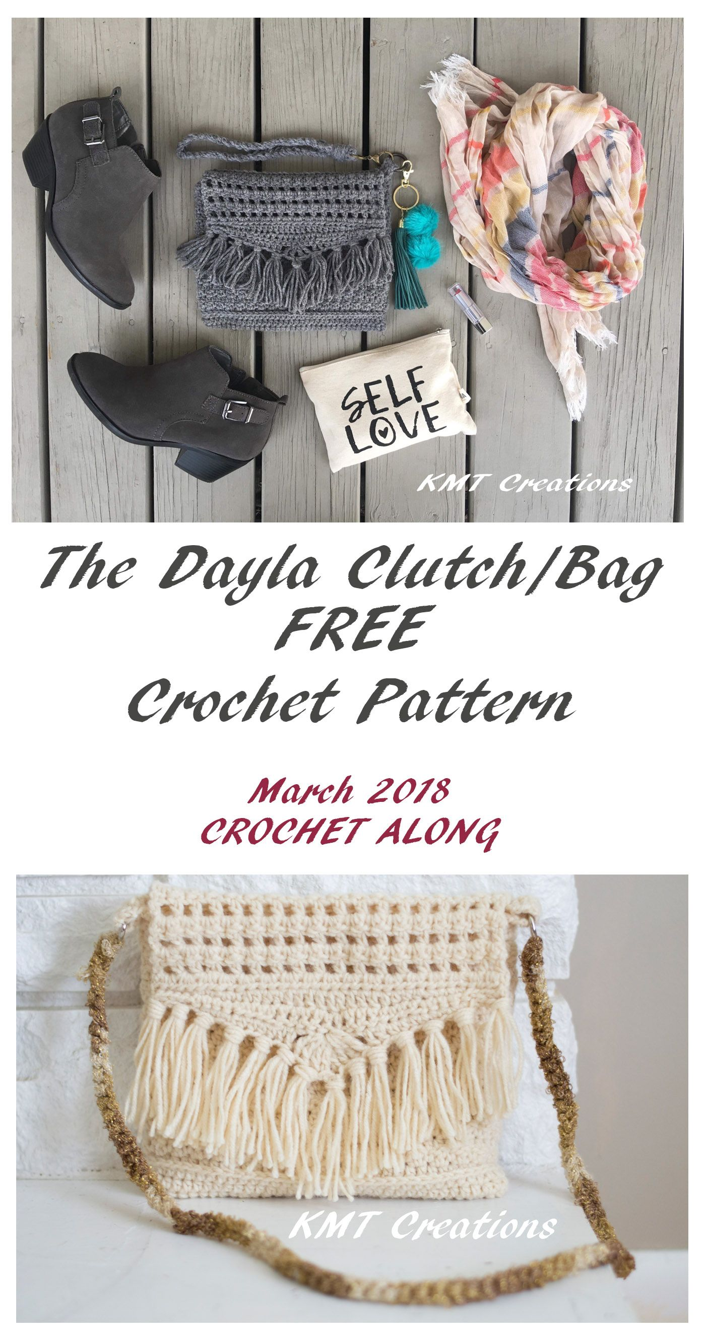 The Dayla Clutch/Bag | Crochet Handbags | Pinterest | Bolsos, Bolsa ...
