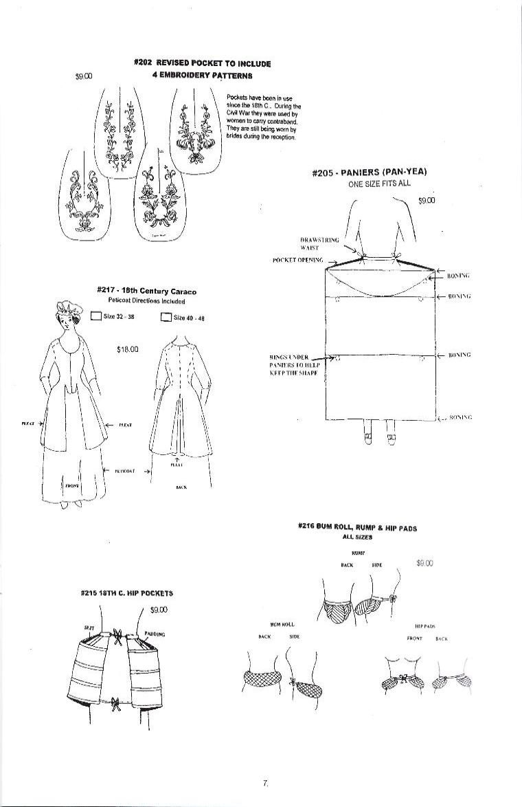 468a6675c Patterns for Revolutionary War costumes and other period costumes. Wingeo  has a pattern for a bum roll and hip pads.
