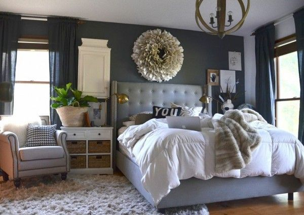 Dark Grey Master Bedroom Gray Master Bedroom Master Bedrooms Decor Home