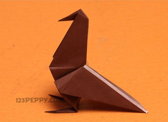 How to make Origami Raven Online: 123Peppy.com