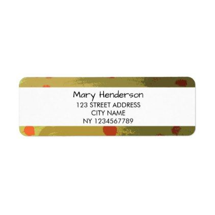 Modern colorful retro pattern return address label - pattern - sample address label