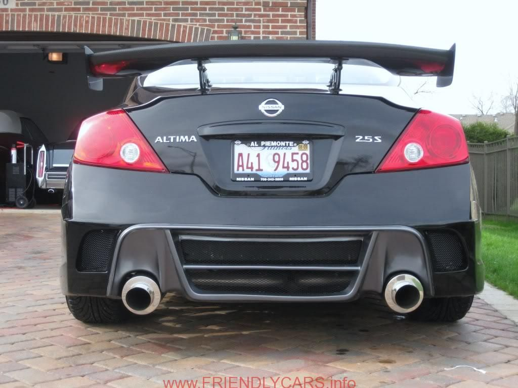 Awesome Nissan Altima Coupe Custom Headlights Car Images Hd Nissan Altima 2014 Black Spoiler Autorentic Do Nissan Altima Coupe Nissan Sports Cars Nissan Altima