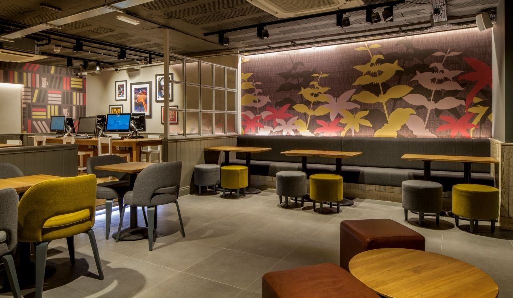 Contemorary Industrial Birmingham University Cafe Design By