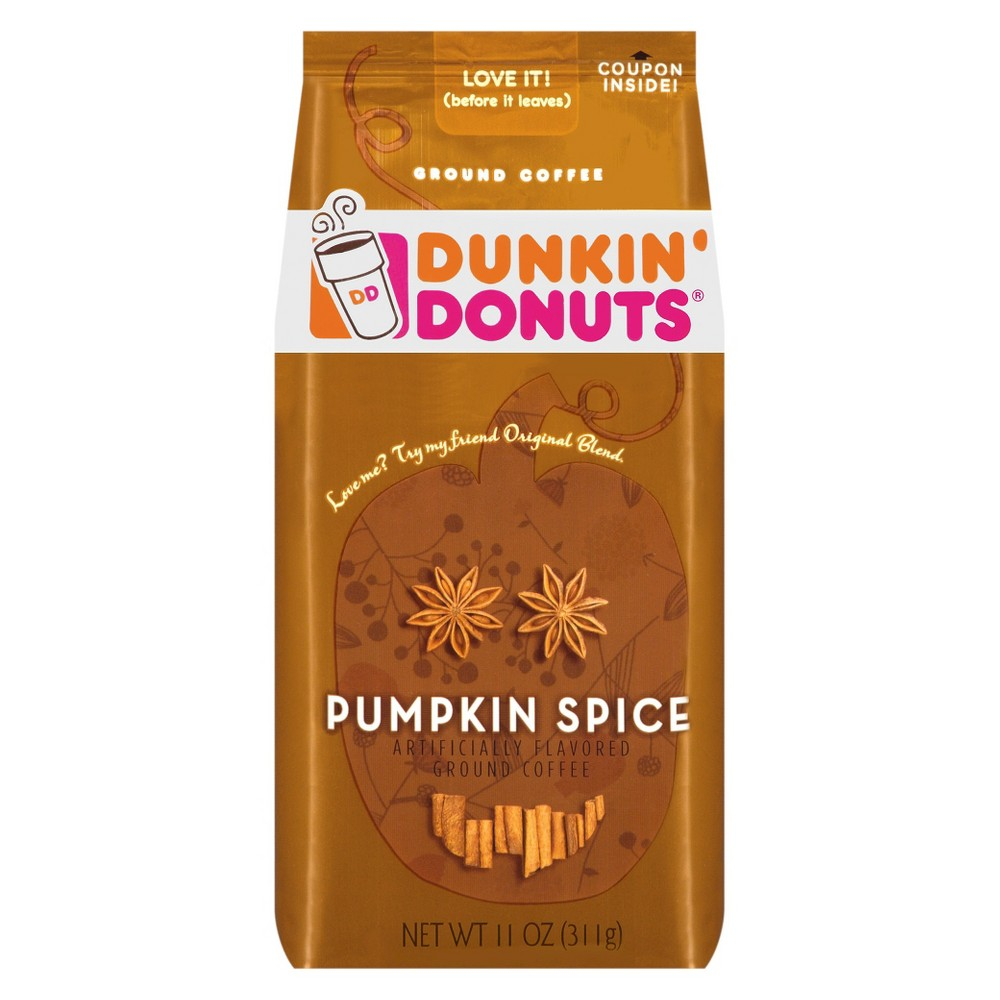 Dunkin' Donuts Pumpkin Spice Ground Coffee 11 oz Dunkin