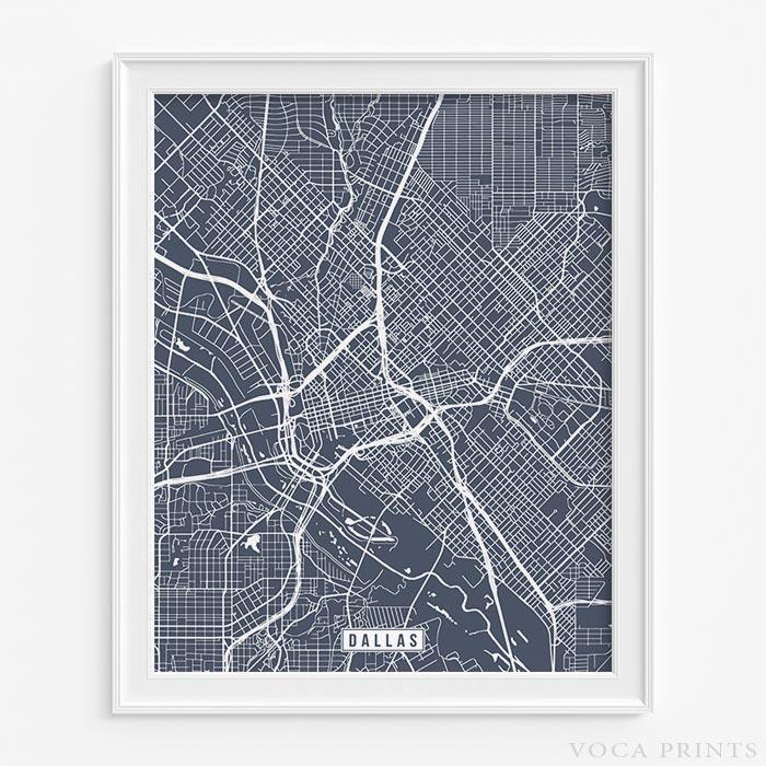 Dallas, texas street map print | Dallas, Texas and Modern