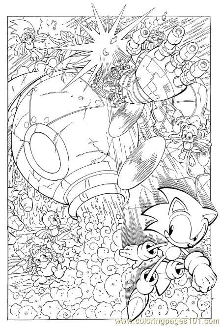 Sonic X Coloring Pages | free printable coloring page Sonic 10 ...