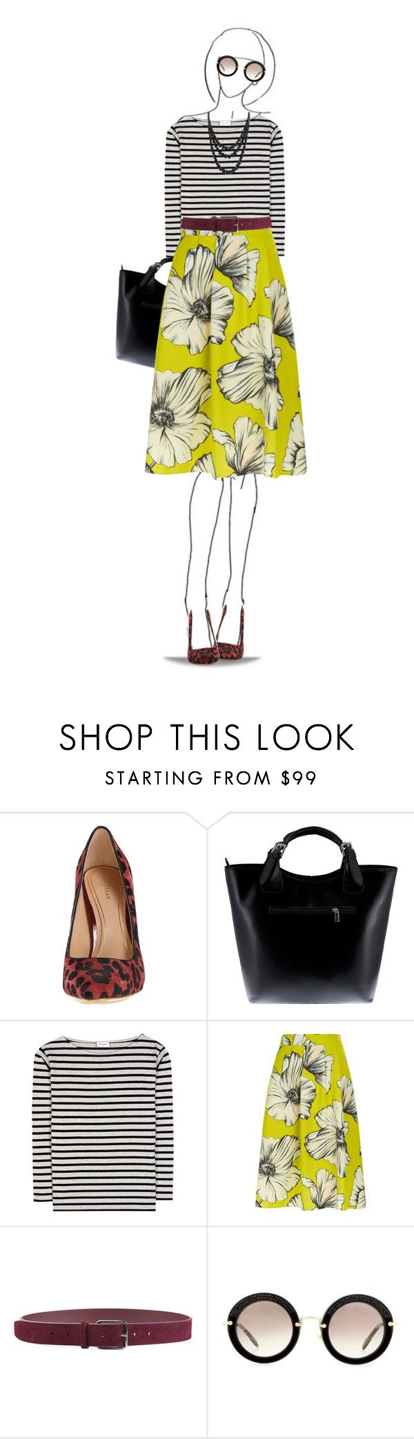"""""""Yellow"""" by dawn-scott ❤ liked on Polyvore featuring Cole Haan, Massimo Castelli, Yves Saint Laurent, Monsoon, Jil Sander, Miu Miu and Bling Jewelry"""