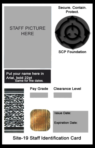 Scp Foundation Id Card Template By Generalpurposegeek D6q6wtp Png Scp Scp 049 Scp Cb
