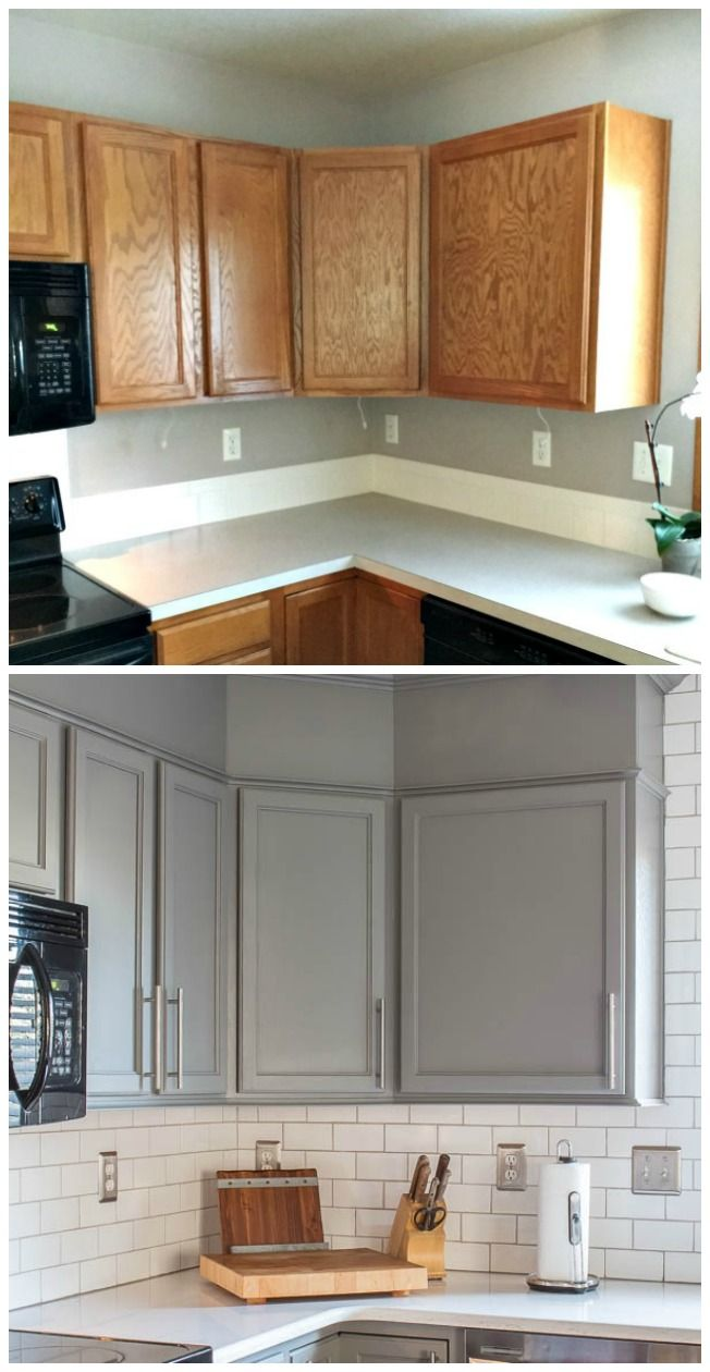 Remodel A Kitchen 4 Hole Faucets Before And After Reveal South Cypress Homes Pinterest Builder Grade Gets New Look With Classic Features Like Gray Cabinets Quartz Counters Subway Tile Is Amazing