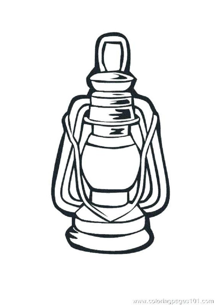 Camping Lantern Coloring Pages Coloring Pages Camping Lanterns Lanterns