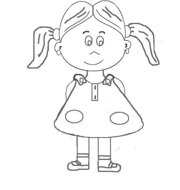 Resultado de imagen para niña para colorear | Proyectos que debo ...