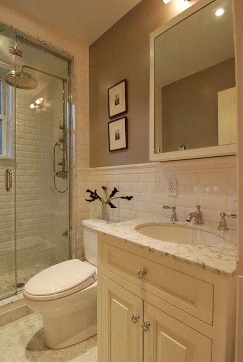 The Renovated Home Bathrooms Cream Vanity Cream Sink Vanity