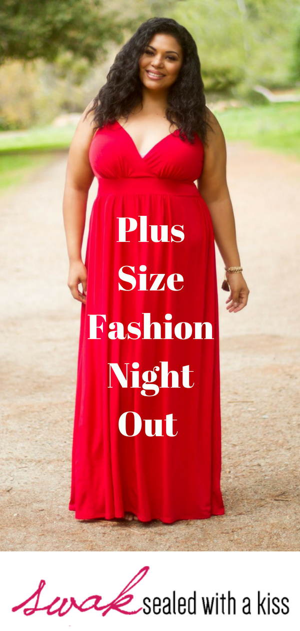 Plus Size Fashion Night Out. A classic spaghetti strap plus size ...