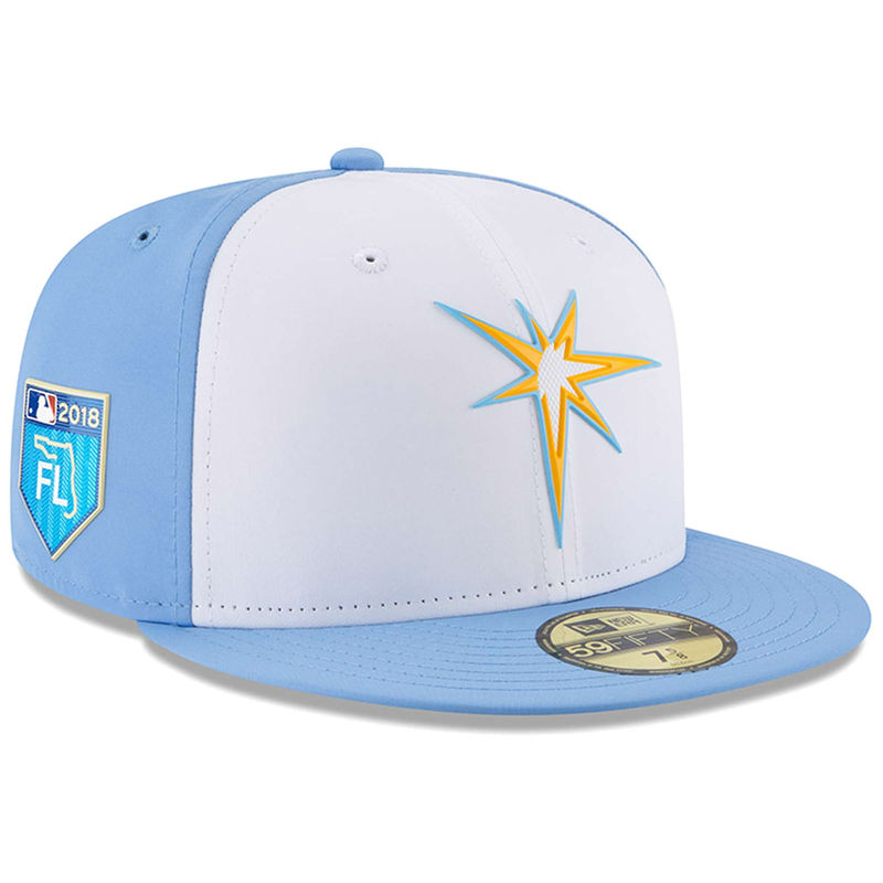 252474f8e36 Tampa Bay Rays New Era 2018 Spring Training Collection Prolight 59FIFTY  Fitted Hat – White