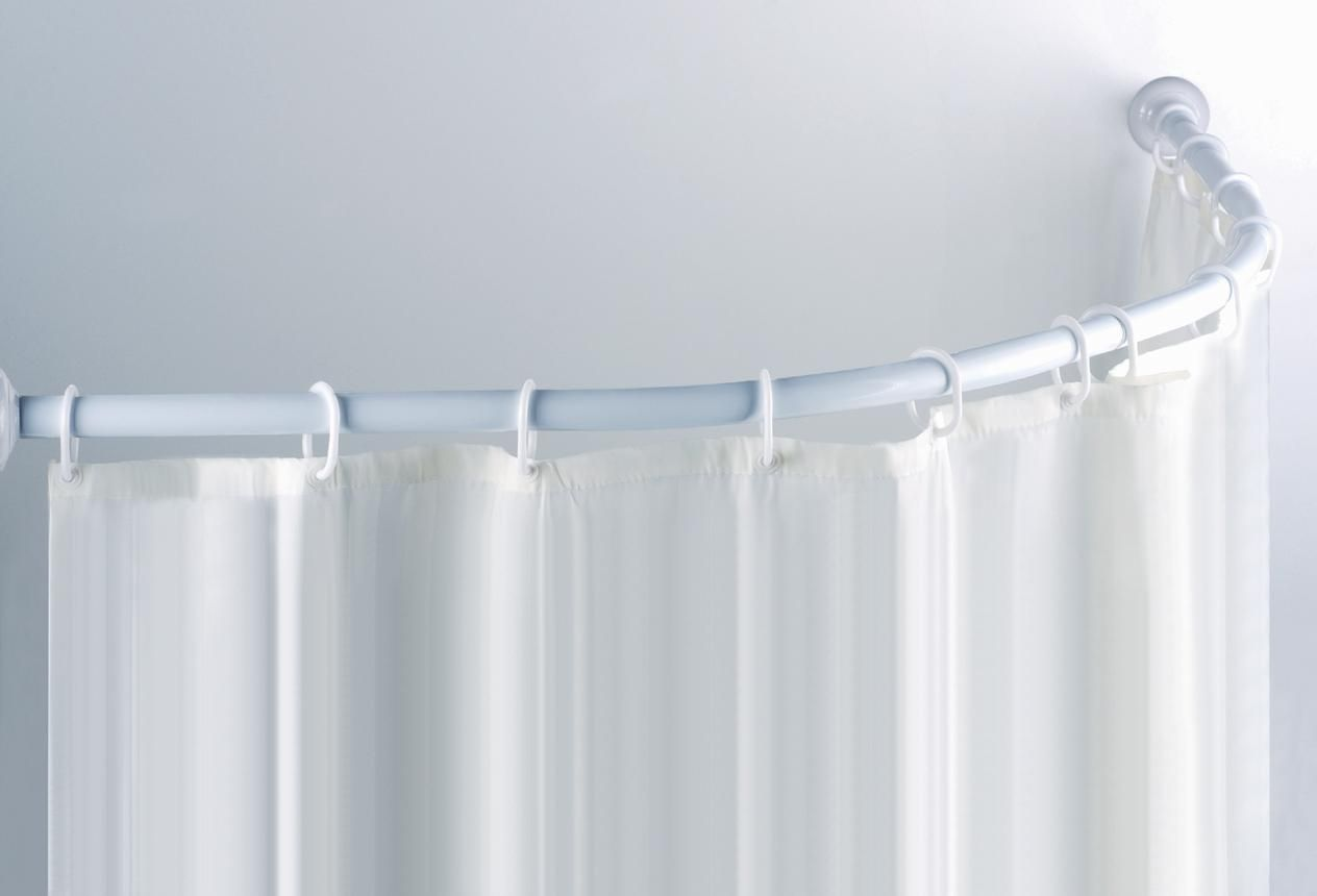 Curved Shower Curtain Rail For Corner Bath Round Shower Curtain