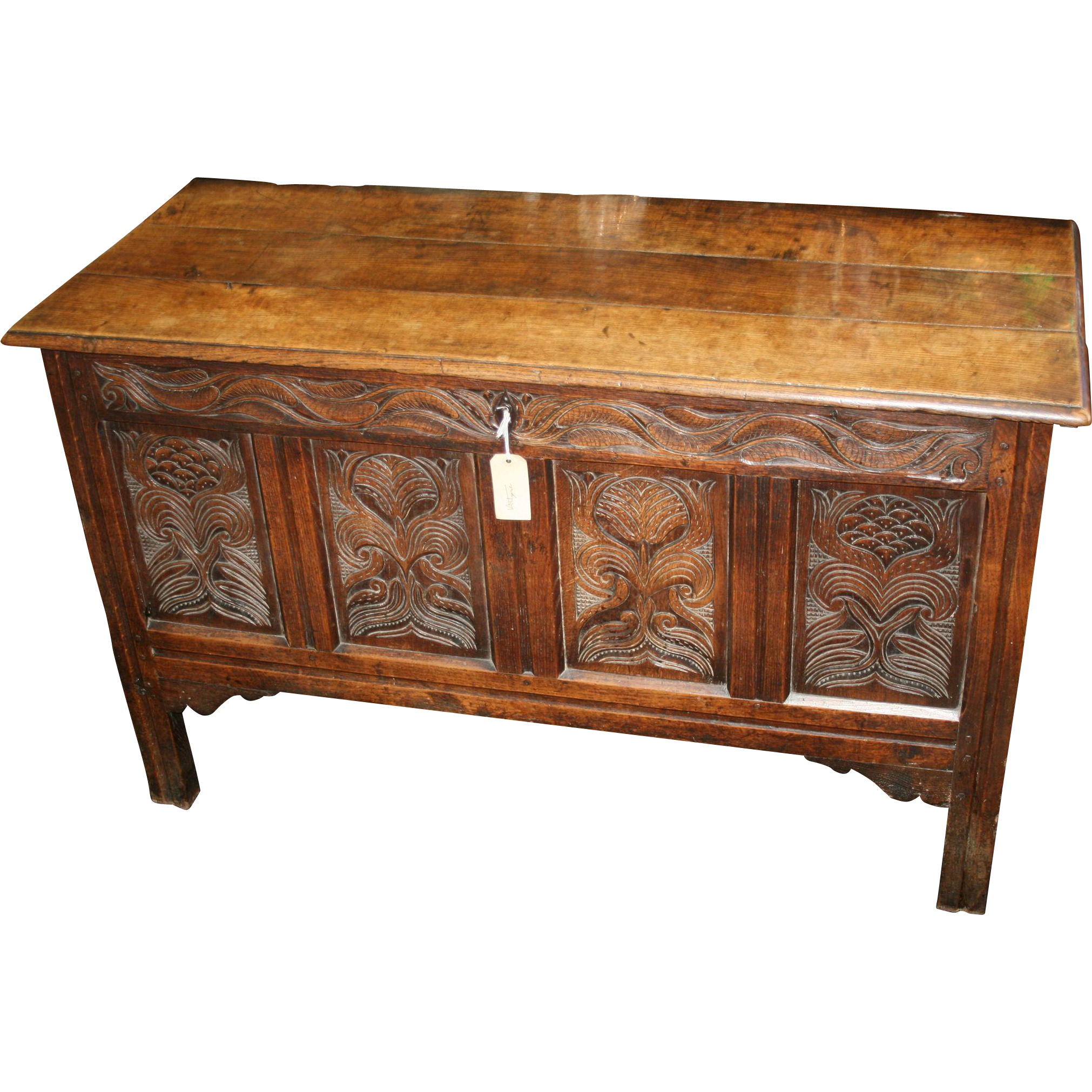 Antique Oak Coffer Charles Ii C 1670 Coffer Worcester And  # Muebles Long Lane