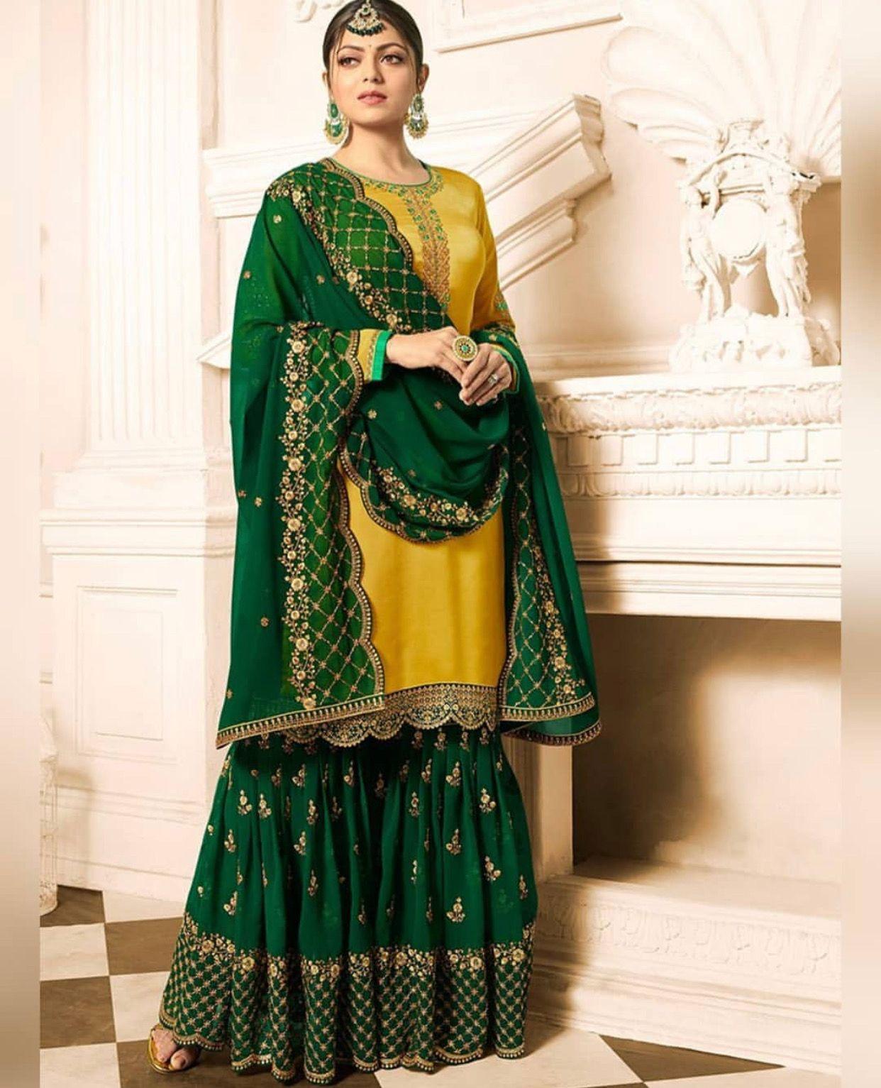 3905acdcf1 Pinterest: @pawank90 | Sharara and Palazzo | Sharara suit, Indian ...