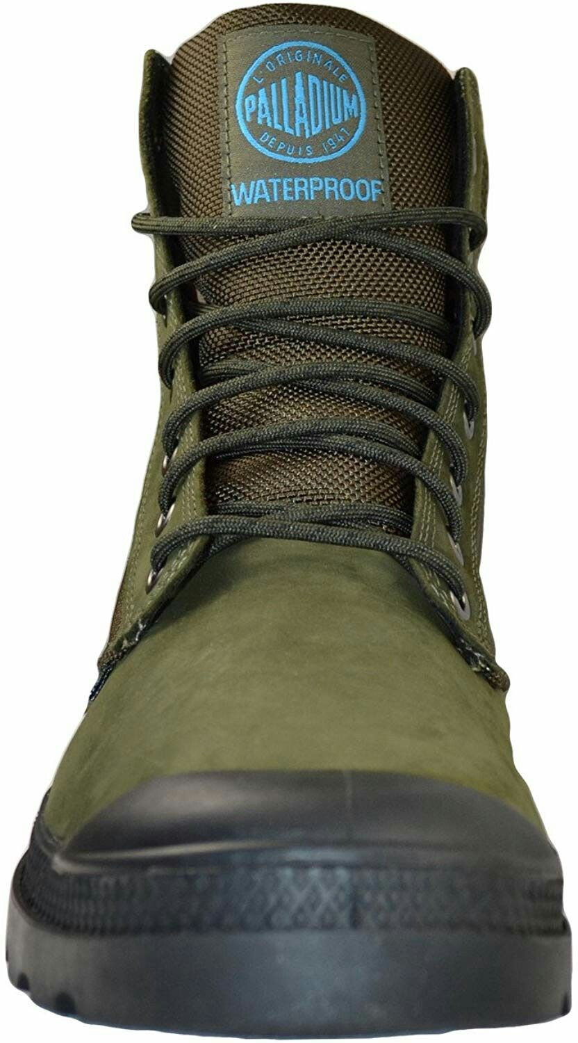 ab78fa722cf Palladium Men's Pampa Sport Cuff Wpn Rain Boot Army Green/Black ...