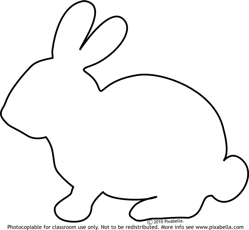 Cute Bunny Pictures To Color | Bunny Rabbit | Free Clip Art from ...