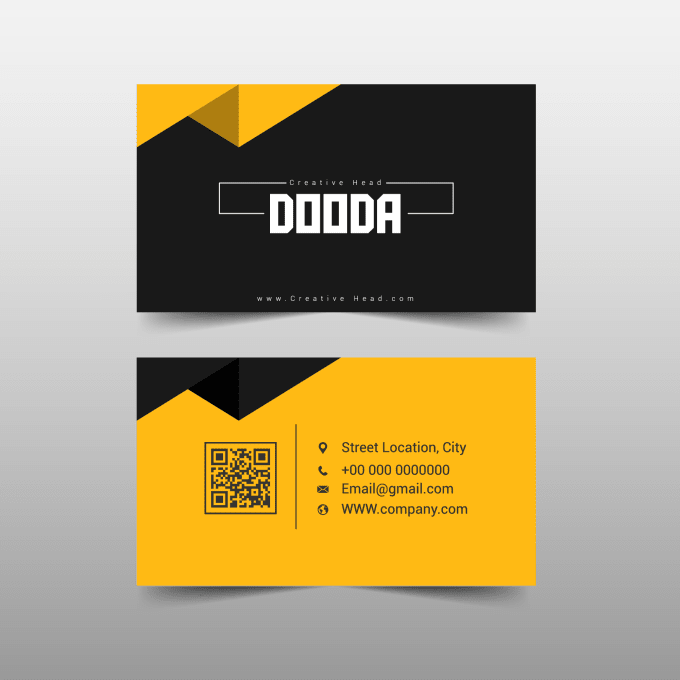 Pin By Maduri On Modern Business Card Business Cards Creative Business Card Design Creative Yellow Business Card