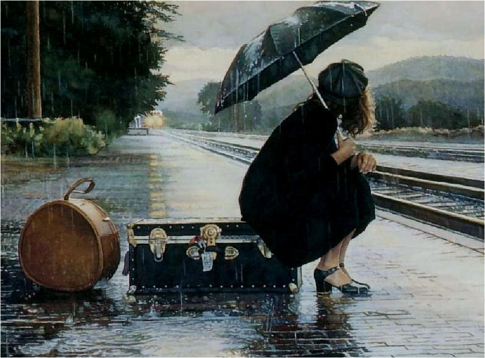Image result for rainy mood painting