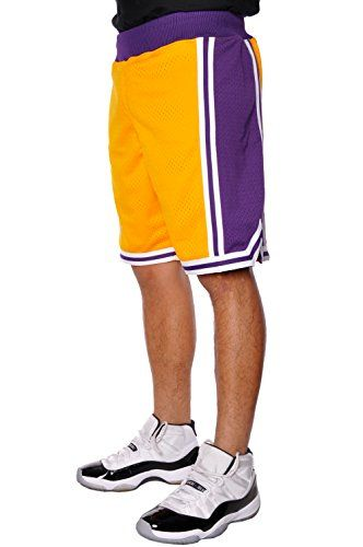 f729d4408de Los Angeles Lakers Mitchell and Ness Authentic Gold 1996-97.   dansbasketball  basketball  mitchellandness  fashion  shorts  afflink