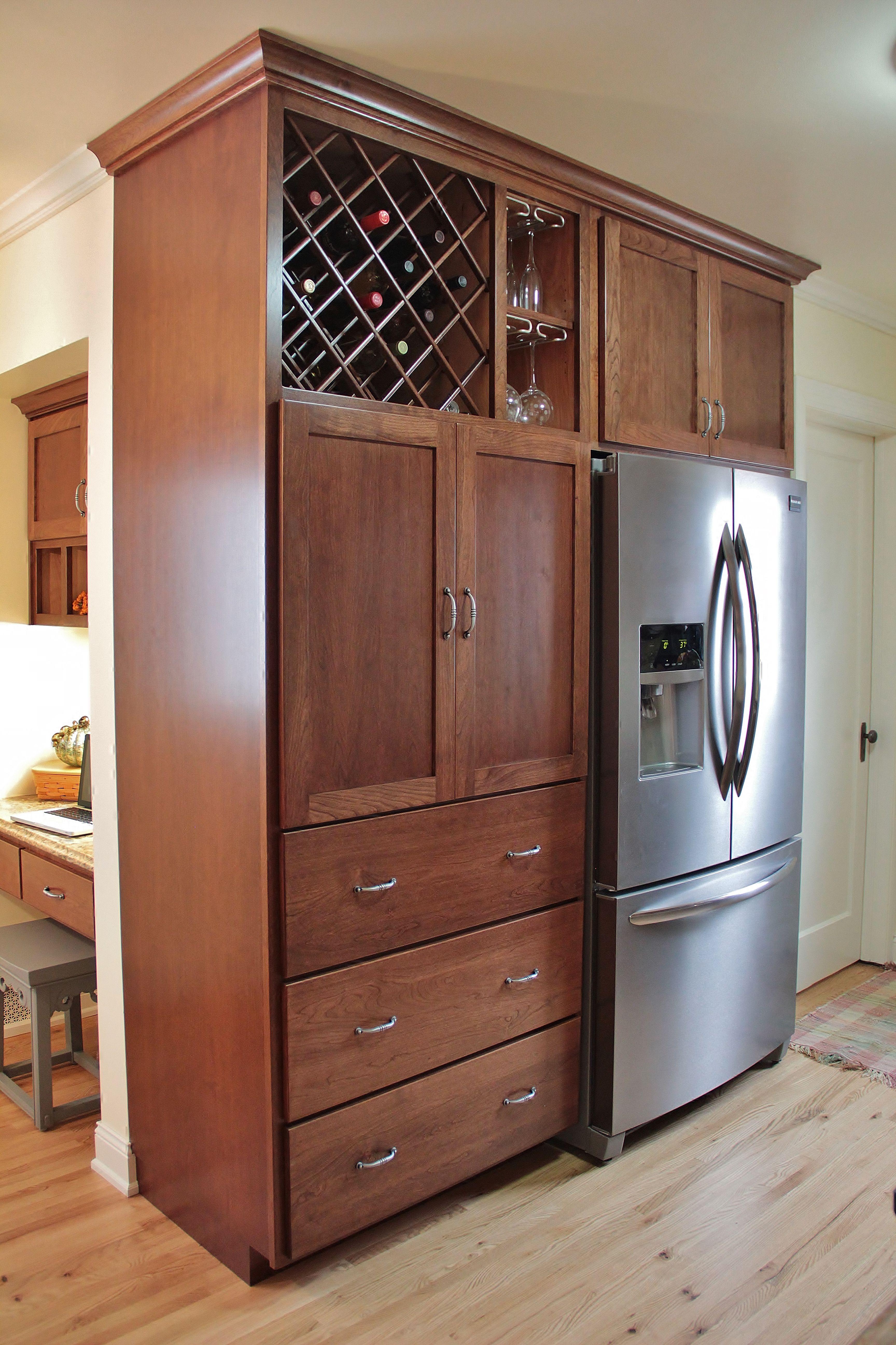 Cherry Kitchen in 2020 Tall kitchen Galley