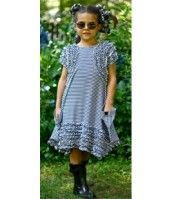 "KidCute Ture Black and White Ruffled ""Michelle"" Dress"