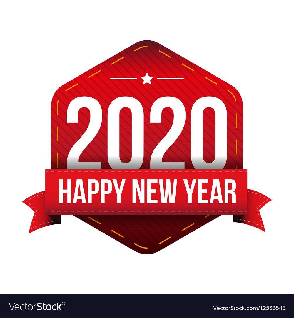 Happy New Year 2020 vector image on VectorStock Happy