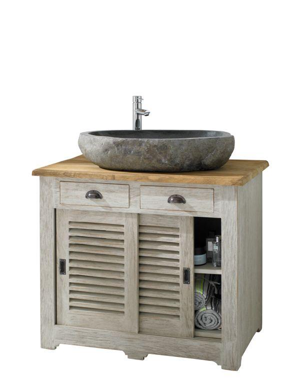gro artig toller waschtisch mit schiebet ren und steinwaschbecken der sch ne tisch hat ein. Black Bedroom Furniture Sets. Home Design Ideas