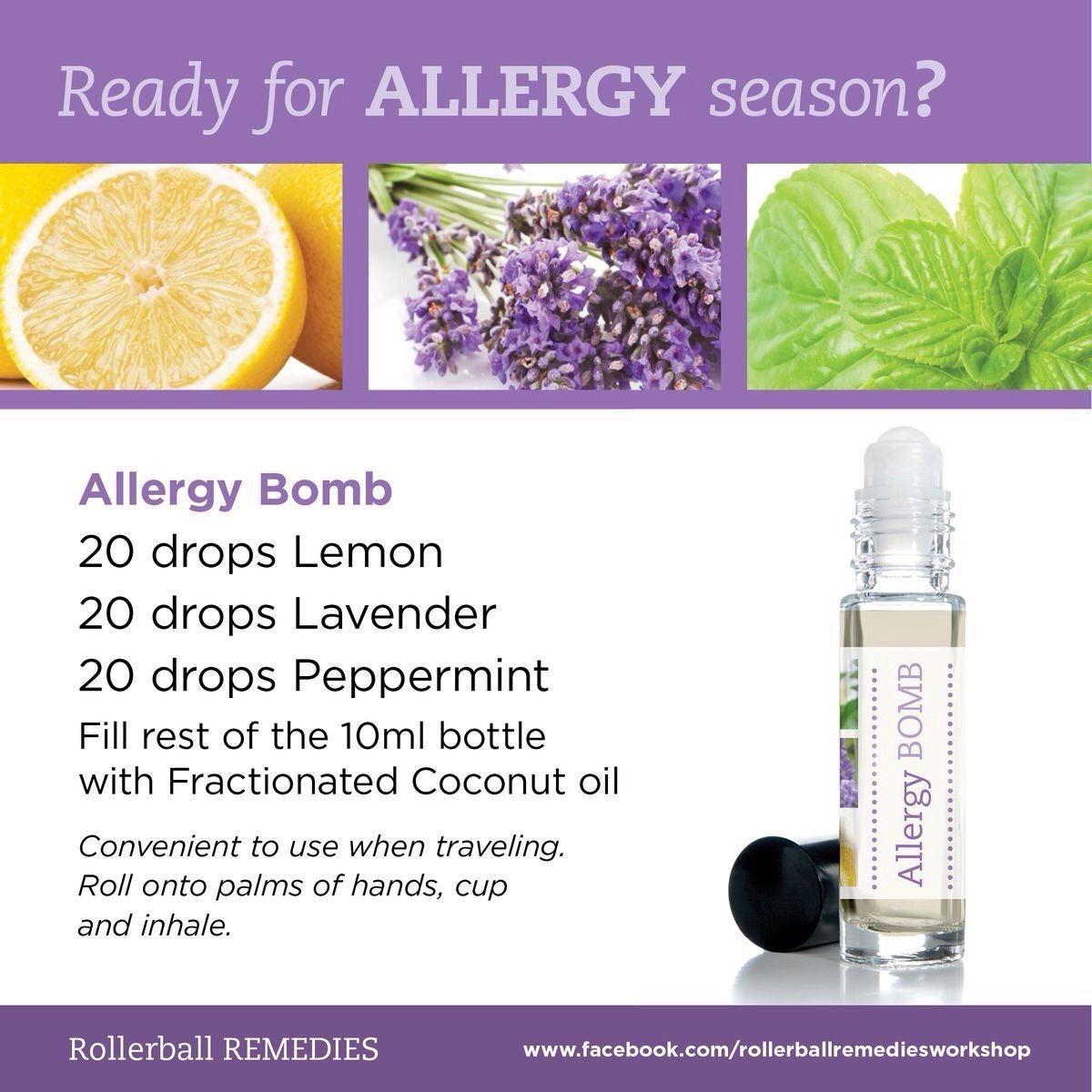 Quot Seasonal Allergy Blend Quot Essential Oil Blends Aceites