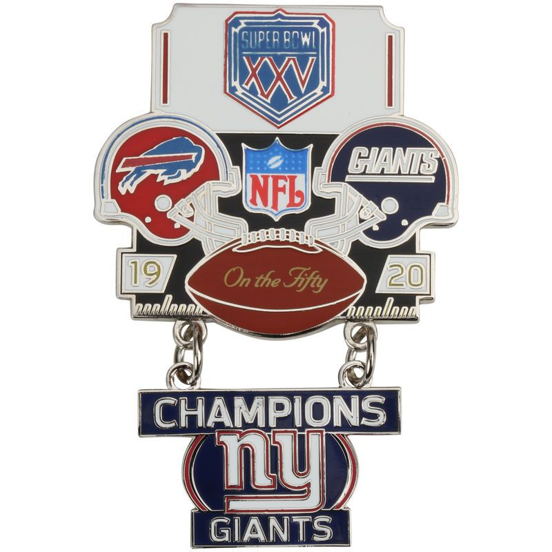 d6fd2a850 New York Giants WinCraft Super Bowl XXV Champions On the Fifty Pin ...