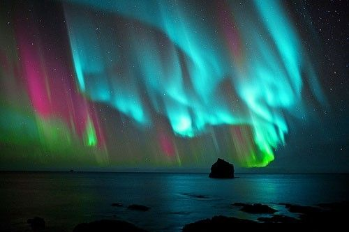 northern lights. Who says there's no God?