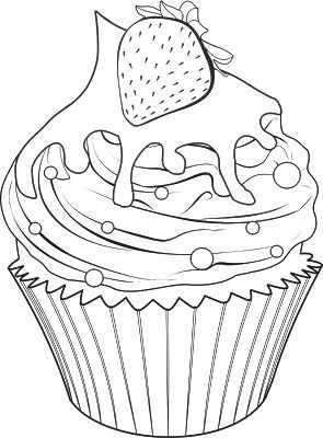 Cupcake Tvoření Coloring Pages Cupcakes A Coloring Books