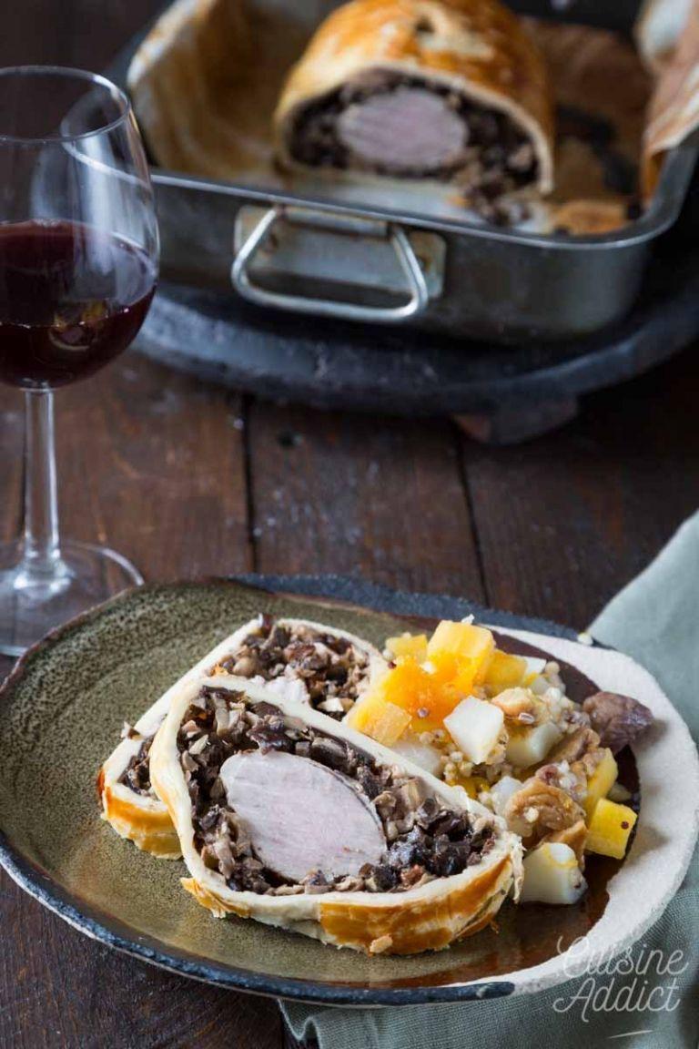 Filet mignon en croûte aux champignons | Recette | Filet ...