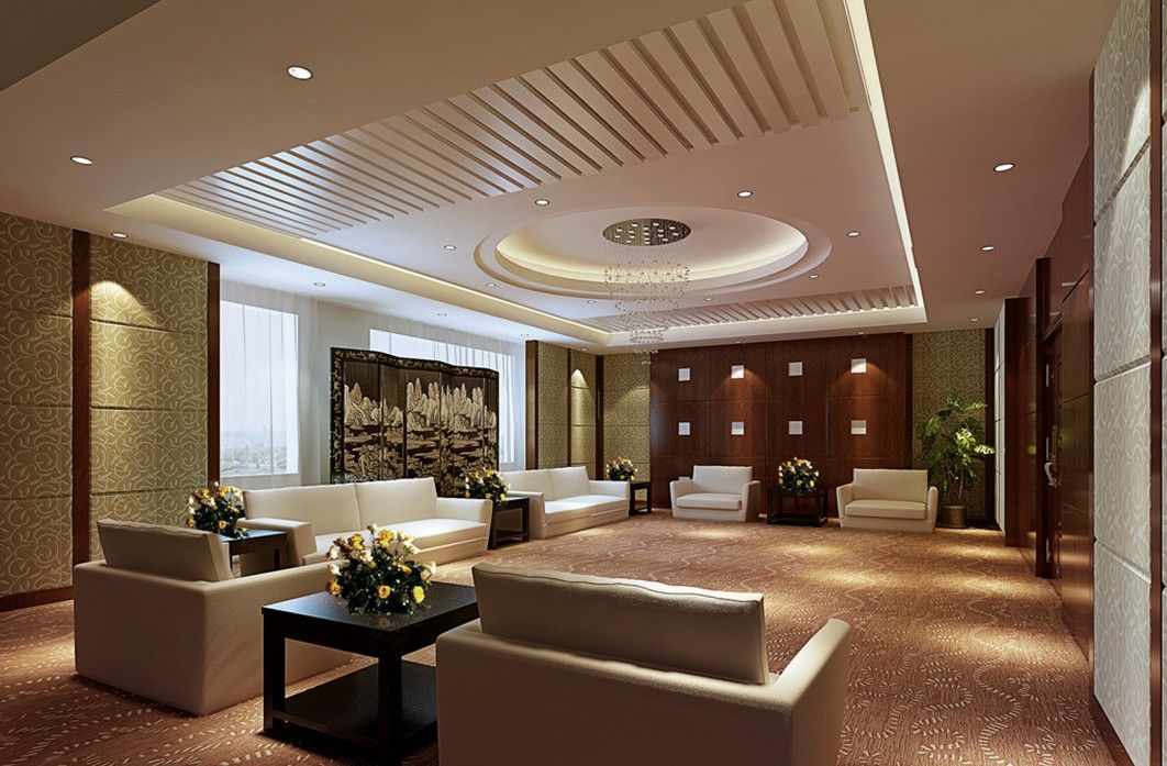 Elegant Modern False Ceiling For Living Room Designs