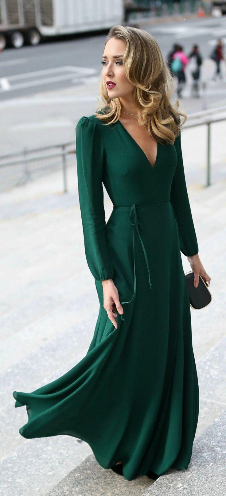 Emerald Green Dress For Wedding Guest   Green wedding dresses ...