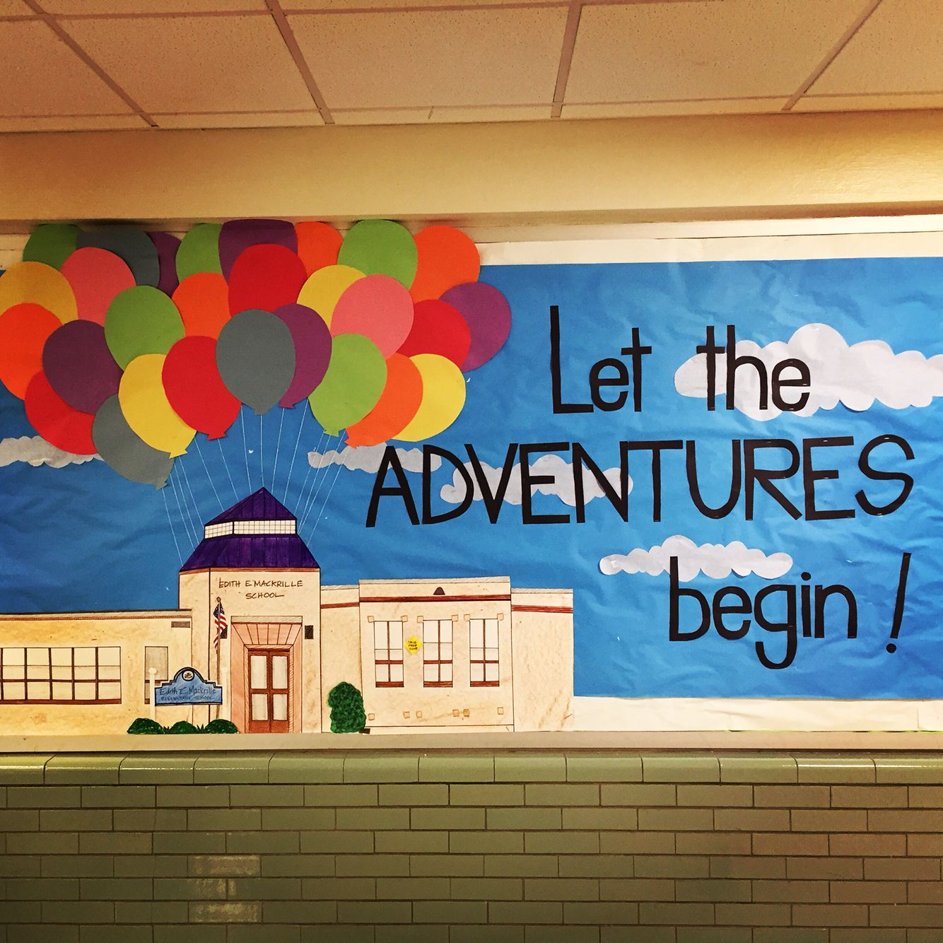 Start of the school year bulletin board... By: Mackrille PTA- Let