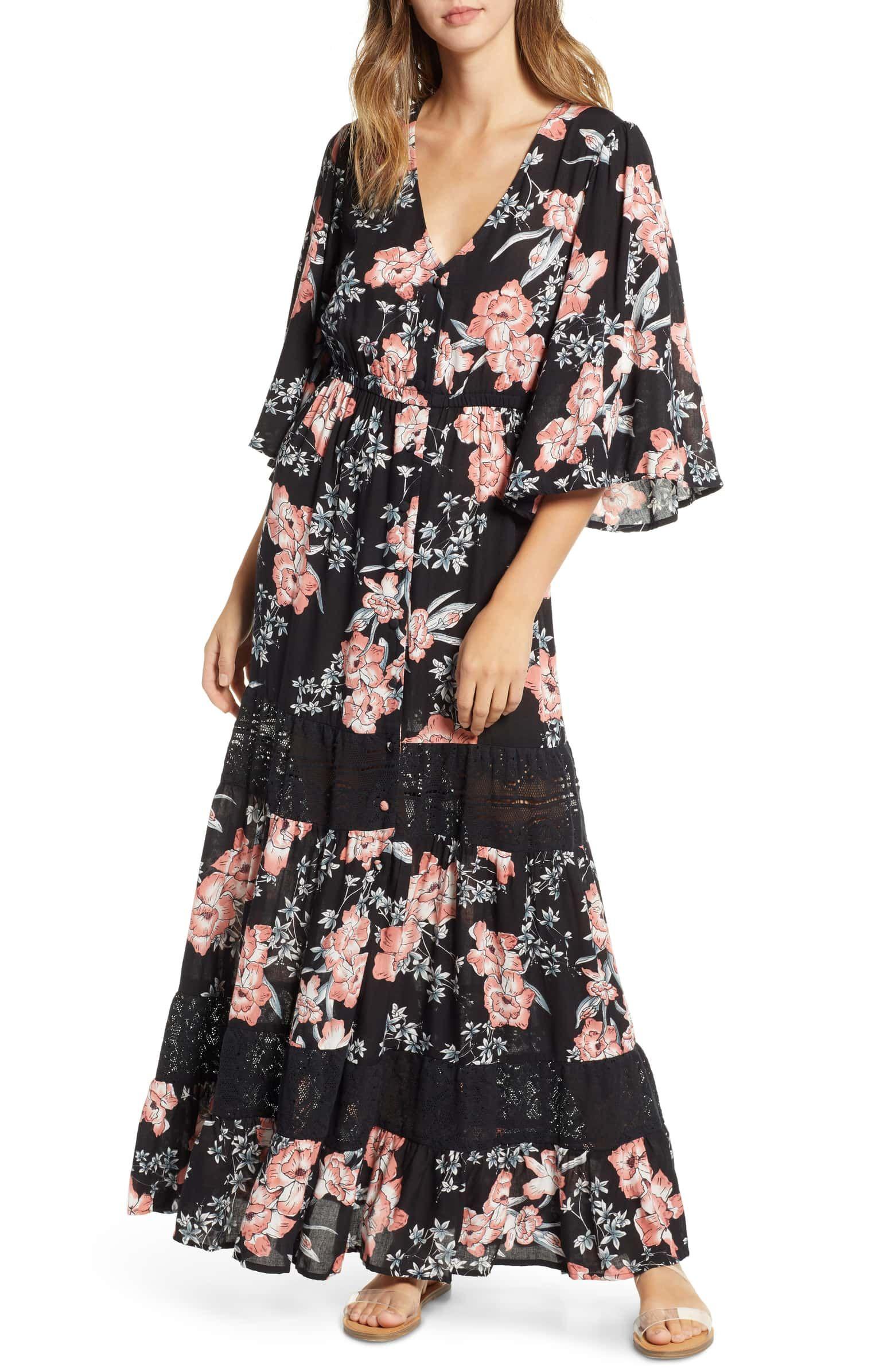 cf569611006a Nalu Lace Inset Maxi Dress