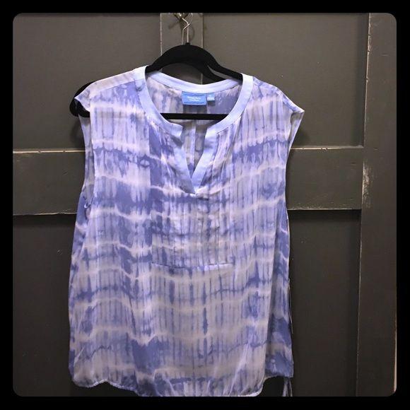 Vera Wang Simply Vera blouse Sleeveless cute shell to go under jacket or alone with drawstring bottom Simply Vera Vera Wang Tops Blouses