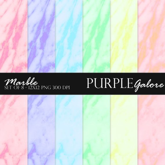 Light Pink Purple Sky Blue Green Yellow 12 X 12 Digital Paper Packs Marble By Purplegalore On Etsy Scrapbook Templates Scrapbook Paper Paper Design