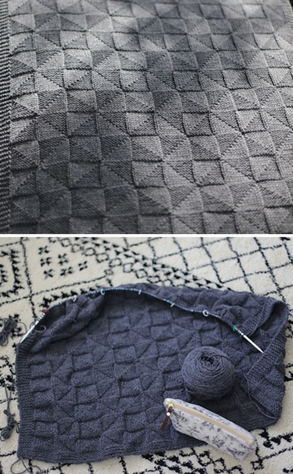 Photo of Geometric Baby Blanket – Kostenloses Muster, #Baby #Blanket #Free #Geometric #Pattern