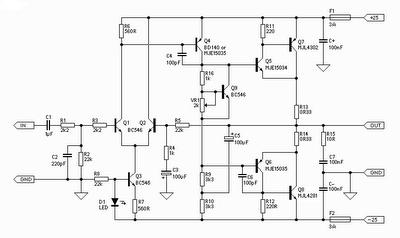 Hi-Fi 25W Power Amplifier (Class-A) | Power amplifiers ...