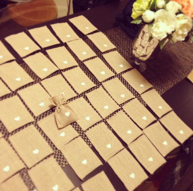 Saquitos de tela de yute para mi boda bolsitas de yute - Saquitos de tela ...